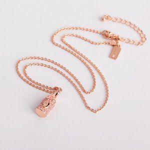 Kate Spade Rose Gold Champagne Bottle  Necklace
